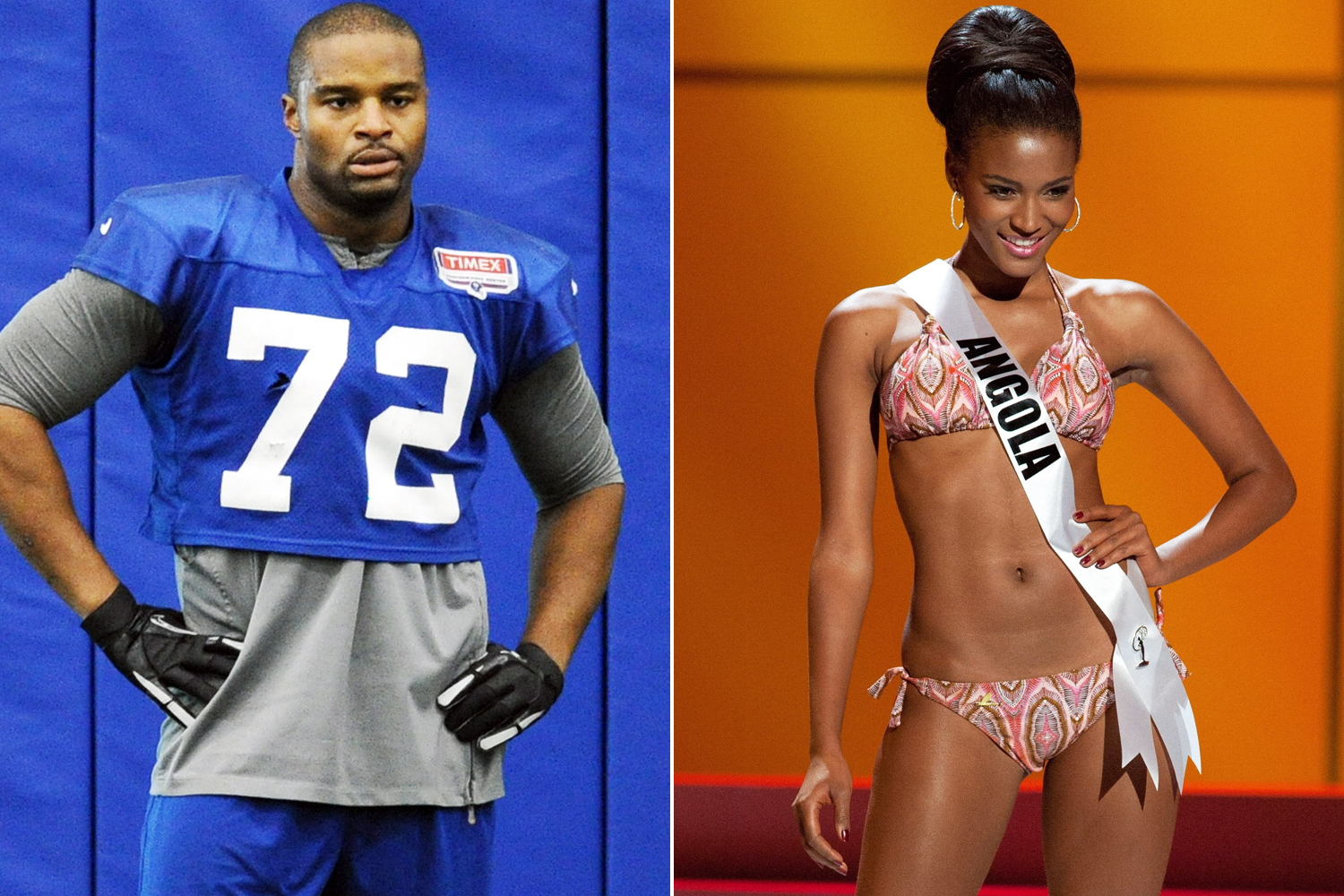 Osi Umenyiora and wife